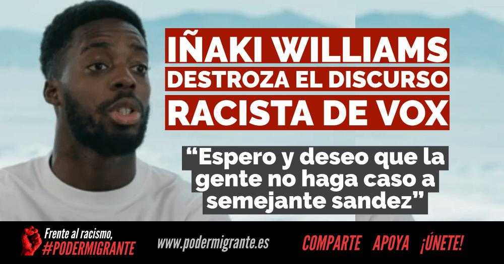 Iñaki Williams destroza el discurso racista de Vox