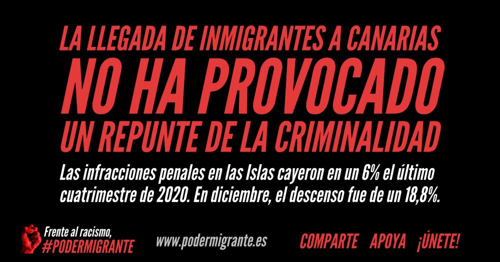 LA LLEGADA DE INMIGRANTES A CANARIAS NO HA PROVOCADO UN REPUNTE DE LA CRIMINALIDAD