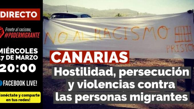 """EN DIRECTO   """"CANARIAS: Hostilidad, persecución y violencias contra las personas migrantes"""""""