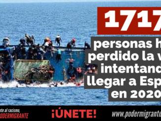 1.717 PERSONAS MIGRANTES HAN PERDIDO LA VIDA intentando llegar a España en 2020