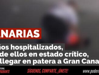 CANARIAS: 9 niños hospitalizados, uno en estado crítico, tras llegar en patera a Gran Canaria