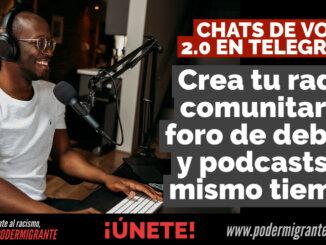 CHATS DE VOZ 2.0 EN TELEGRAM: Una potente herramienta para crear tu radio comunitaria, foro de debate y podcasts al mismo tiempo