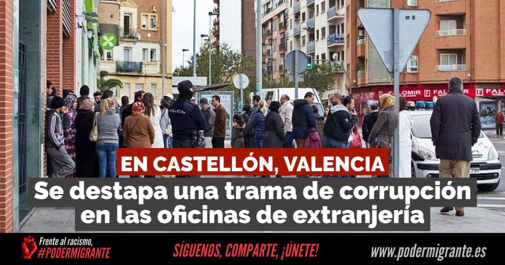 Se destapa una TRAMA DE CORRUPCIÓN en las OFICINAS DE EXTRANJERÍA en Castellón