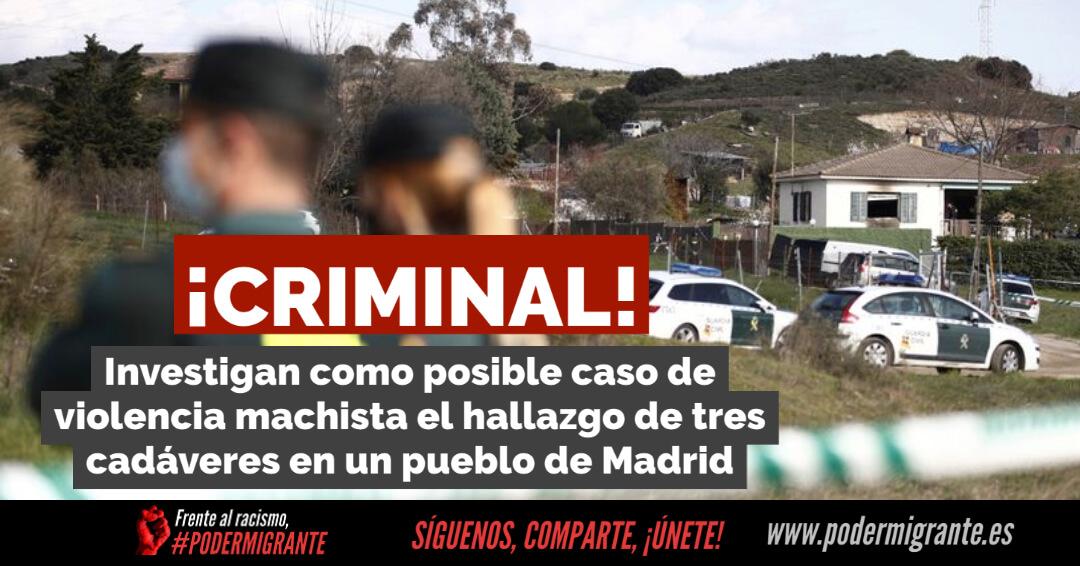 Investigan como posible caso de violencia machista el hallazgo de tres cadáveres en El Molar