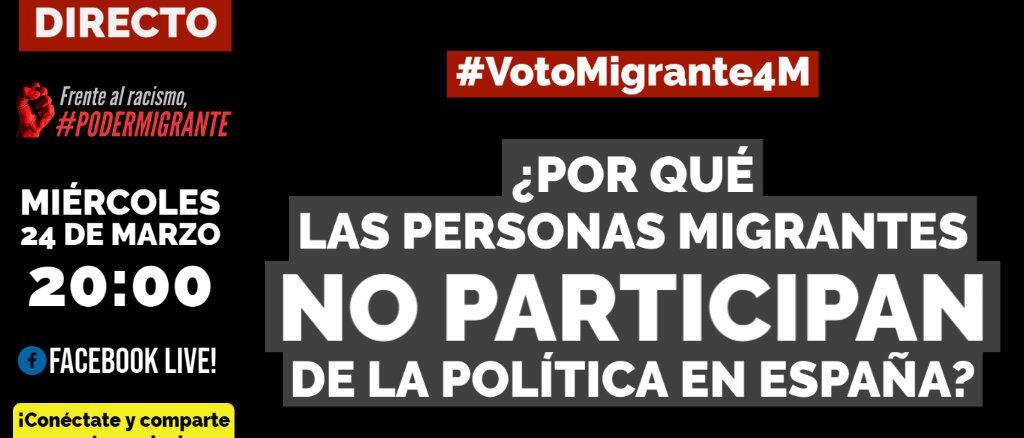 ¿Por qué las personas migrantes no participan de la política en España?