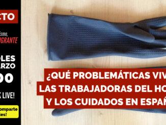 EN DIRECTO | ¿QUÉ PROBLEMÁTICAS VIVEN LAS TRABAJADORAS DEL HOGAR Y LOS CUIDADOS EN ESPAÑA?