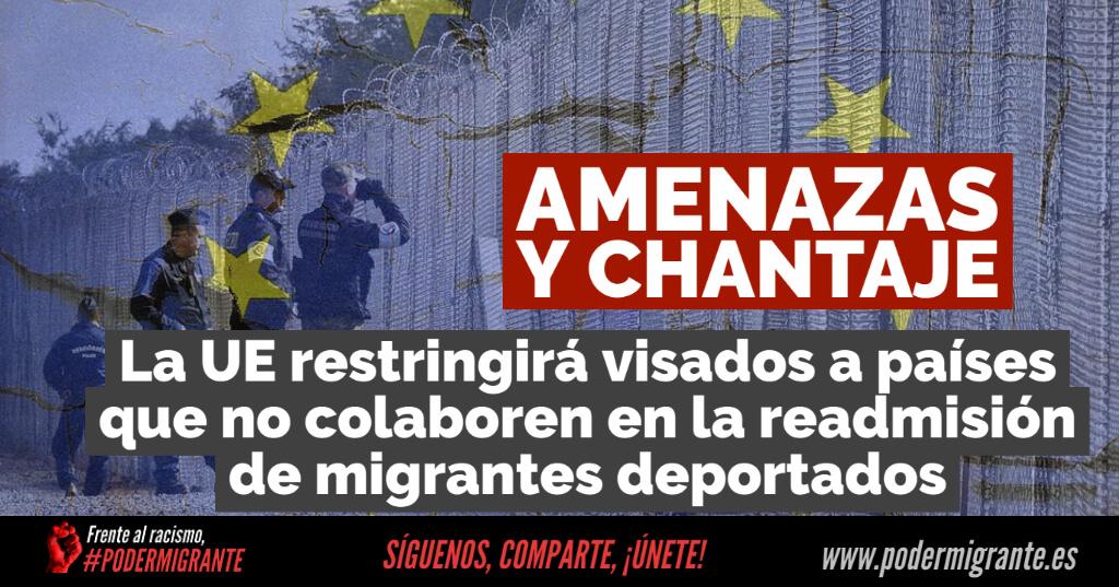LA UE RESTRINGIRÁ VISADOS a países que no cooperen en la readmisión de migrantes deportados