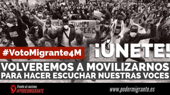 CONVOCATORIA #VotoMigrante4M   Movilizarnos para hacer escuchar nuestras voces