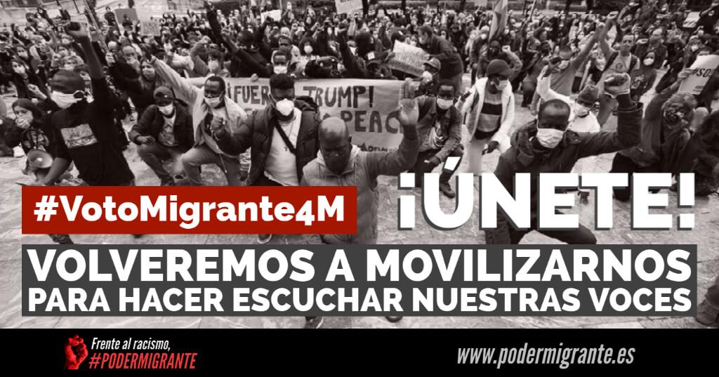 CONVOCATORIA #VotoMigrante4M | Movilizarnos para hacer escuchar nuestras voces