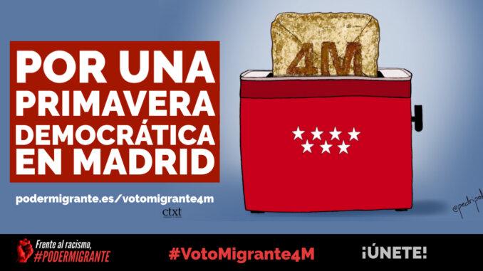 VotoMigrante4M | Por una primavera democrática en Madrid