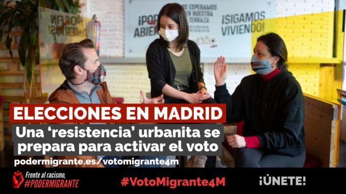 #VotoMigrante4M | ELECCIONES EN MADRID: Una 'resistencia' urbanita se prepara para activar el voto