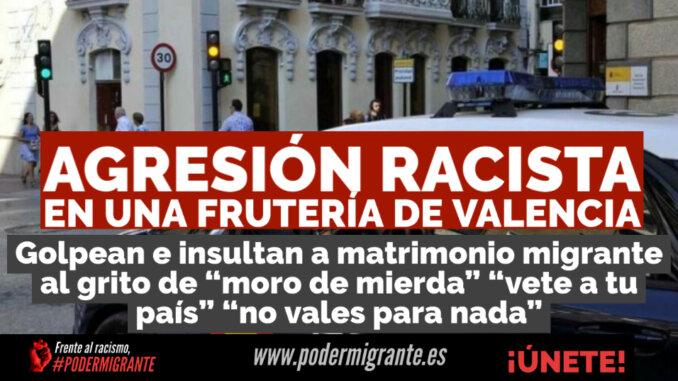 AGRESIÓN RACISTA en una frutería de Valencia