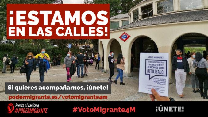#VotoMigrante4M | ¡ESTAMOS EN LAS CALLES!