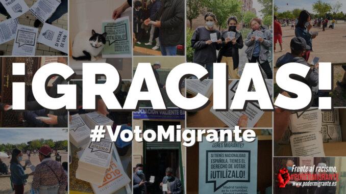 #VotoMigrante4M   ¡GRACIAS POR TU APOYO!