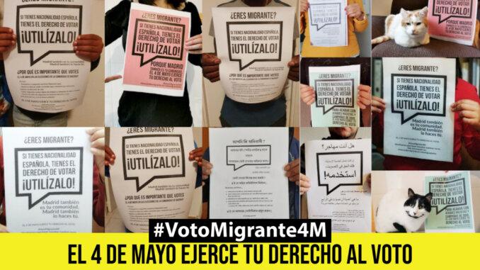 #VotoMigrante4M | EL 4 DE MAYO SERÁ EL DÍA EN QUE NUESTRA VOZ SE ESCUCHE
