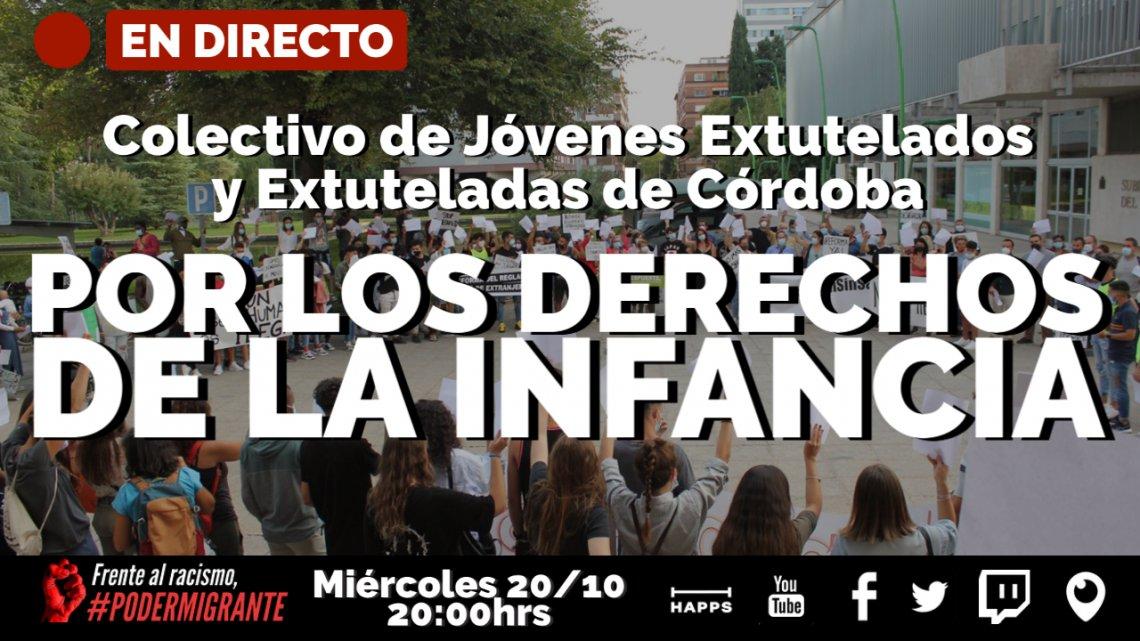 """EN DIRECTO con el Colectivo de Jóvenes Extutelados de Córdoba: """"POR LOS DERECHOS DE LA INFANCIA"""""""