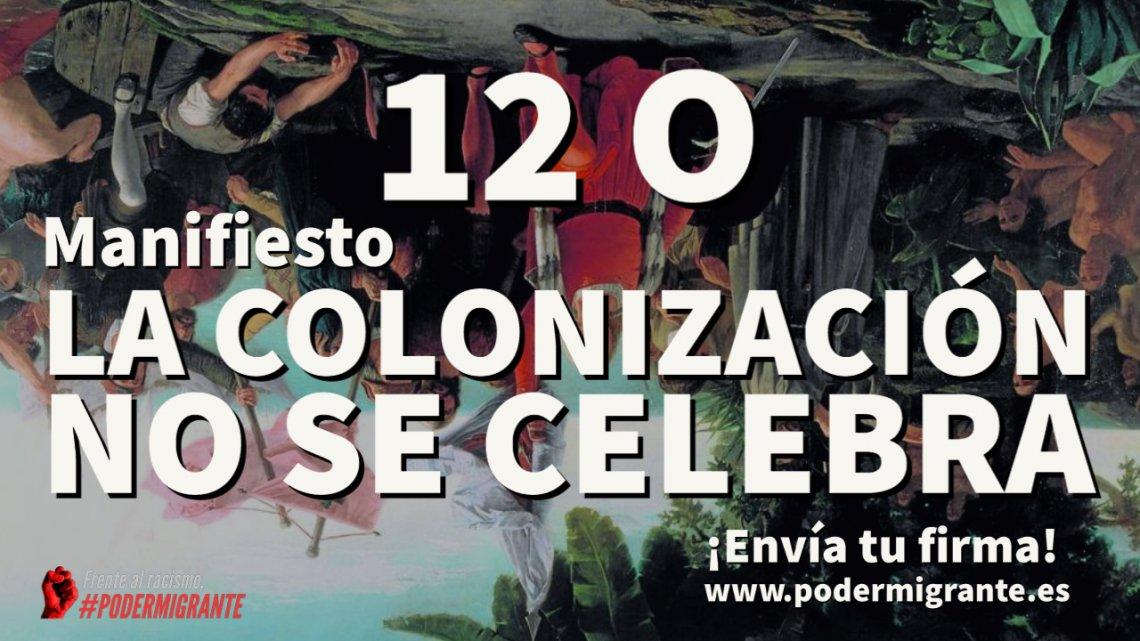"""Manifiesto """"La colonización no se celebra"""""""